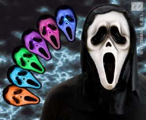 Hooded Ghost Scream Mask with Multi Colour - (1315)